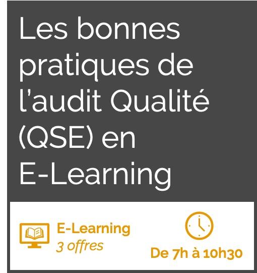 Formation E-Learning les bonnes pratiques de l'audit QSE